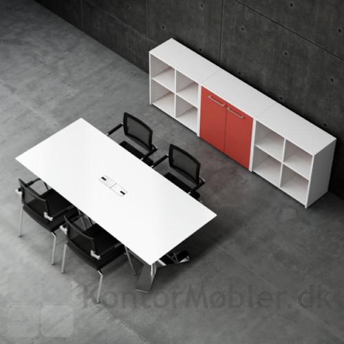 Mødebord med laminatplade 2000x900 med kabelgennemføring