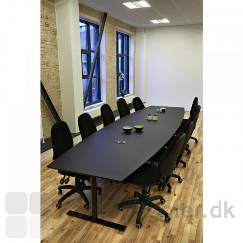 Sort linoleums udgave af Dencons to-delte konferencebord