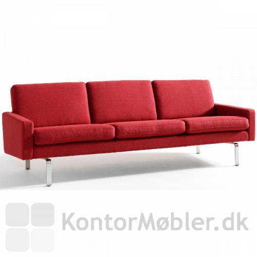 Firenze 3 pers. sofa i rødt stof.