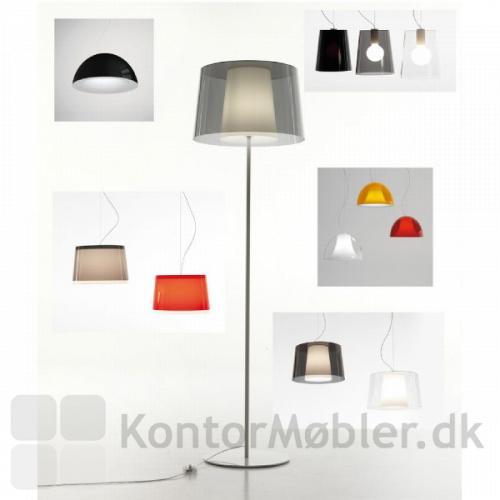 Minimalistisk standerlampe kan mixes med flere loftlamper fra samme serie
