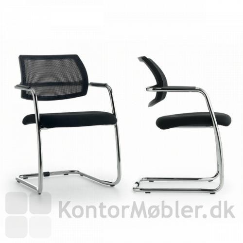 Free gæstestol med Mirage stof på sæde og netryg