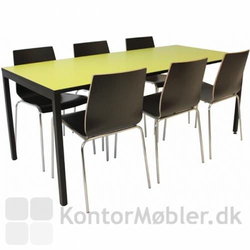 6-mands udgave af Square-bord i grøn