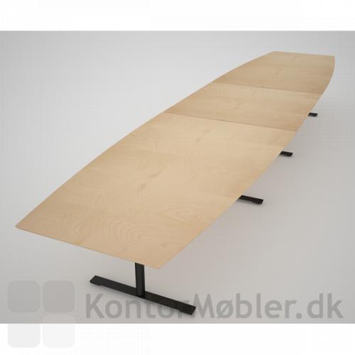 Tre-delt bord fra Dencon - Med bøg-finér og sort stel