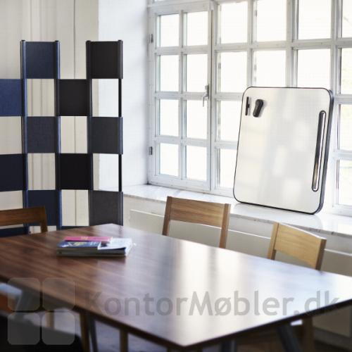 Note whiteboard tavle med sort gummiramme