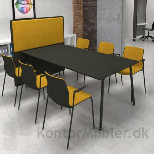 Four Real 74 bord med RinR rumdeler med Akustikpanel