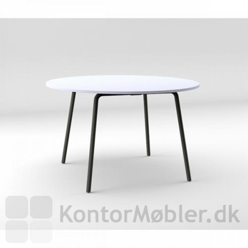 Four Real 74 bord med skrå ben og rund bordplade i Ø120 cm