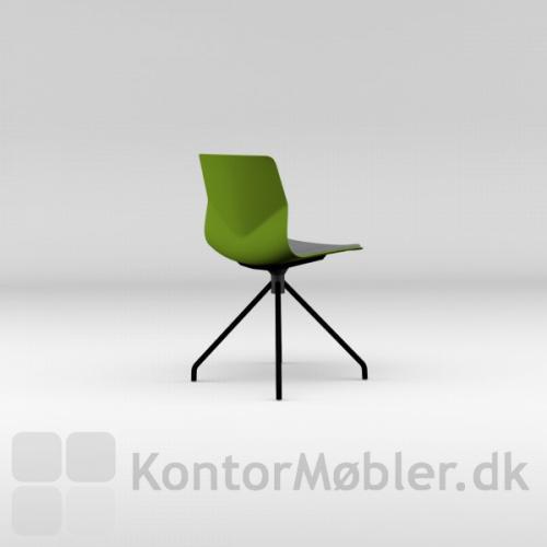 Four Sure 11 mødestol med grøn skal