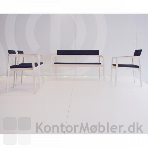 Session lounge sofa sammen med stole