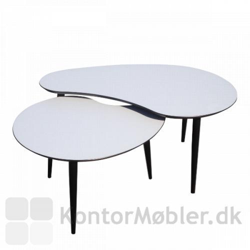 Plekterformet loungeborde i højde 45 cm og 50 cm