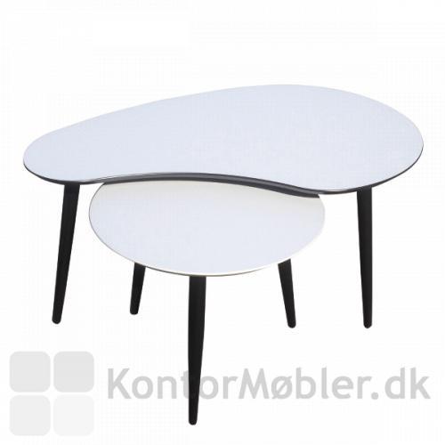 Plekterformet loungebord kombineret med rundt loungebord