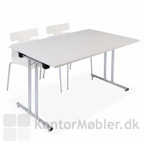 Klapbord i hvid med whisper stole