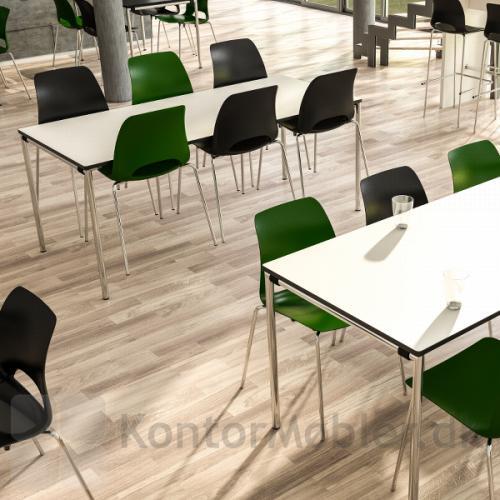 Delta kantinebord i bredden 70 og 80 cm kan klappes sammen - vælg under bordstørrelse