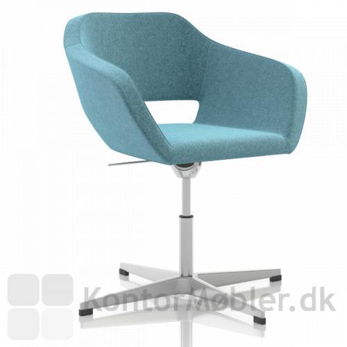 Belen mødestol, højdejusterbar, med fodkryds på glidere