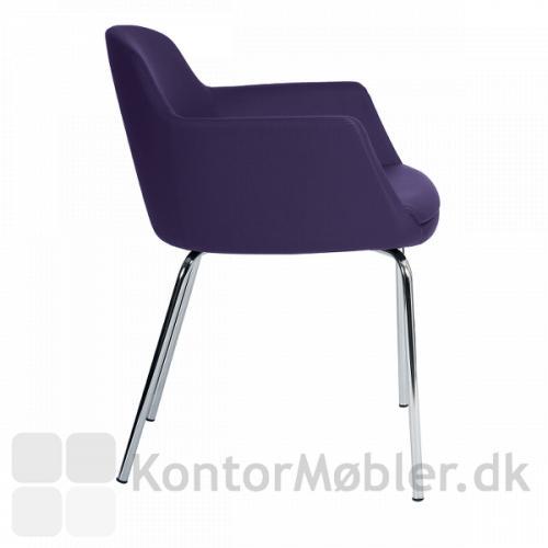 Fire Visitor mødestol har fuldpolstret sæde