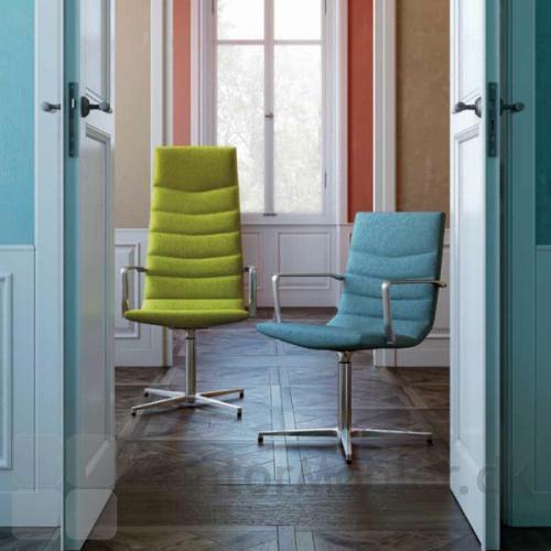 Shiny Basic mødestol med Wool polstring, kan vælges i flere farver