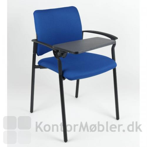 Rocky mødestol med armlæn kan vælges med skriveplade