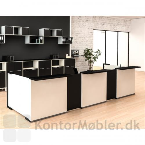 Delta skranke moduler, kan vælges i de farver der passer til indretningen
