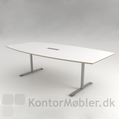 Delta konferencebord med hvid overflade