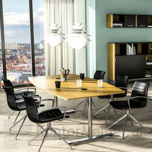 Delta konferencebord i et kontor miljø