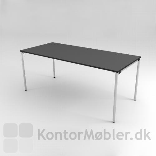 Delta kantinebord med sort overflade