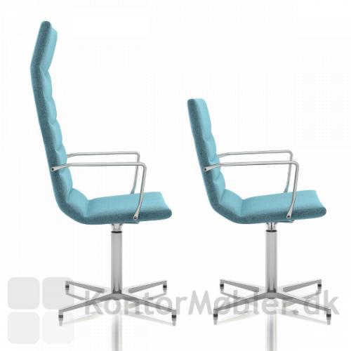 Shiny Basic mødestol, se de to forskellige ryg højder