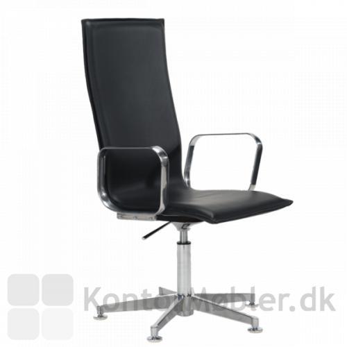 Inferno mødestol med høj ryg og med armlæn