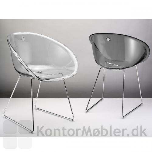 Gliss 921 stol i transparent klar og grå