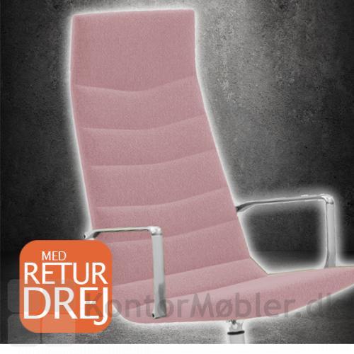 Shiny mødestol fås i lyserød