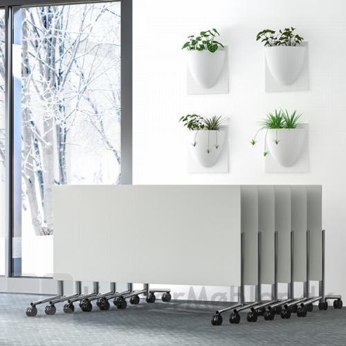 Flip top bordene kan stå tæt, når de ikke er i brug