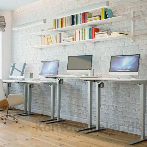 Conset 501-43 hæve sænke bord med 3-leddet stel, vælg mellem flere farver