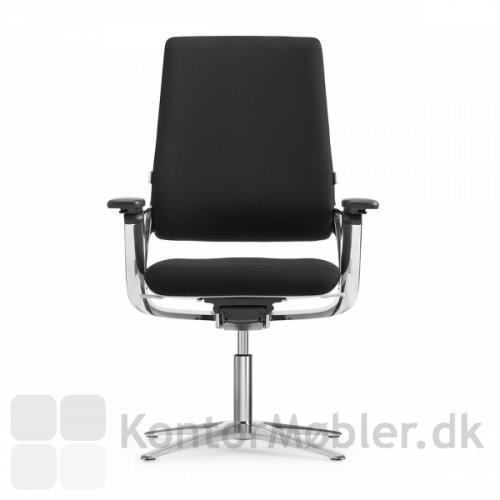 Connex2 konferencestol med poleret aluminium stel og returdrej