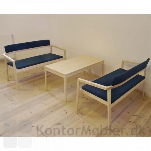 Session lounge sofa kombineret med Session lavt bord