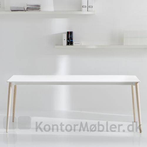 Malmö møde udtræksbord med bordplade i hvid laminat