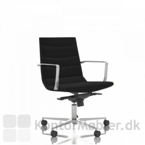 Shiny kontorstol med lav ryg