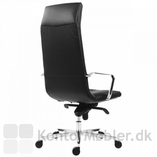 Shiny kontorstol har en eksklusiv ryg