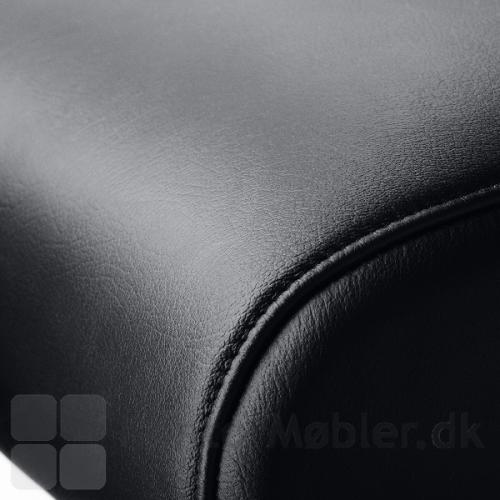 XXXL kontorstol med læder polstring