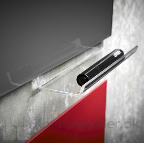 Til Mood Silk glastavle kan der vælges forskelligt tilbehør, feks. penneholder