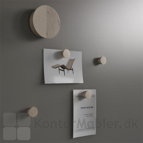 Mood Silk glastavle med magneter og tavlevisker i birk