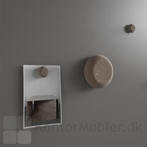 Mood Silk glastavle med kork magneter og tavlevisker