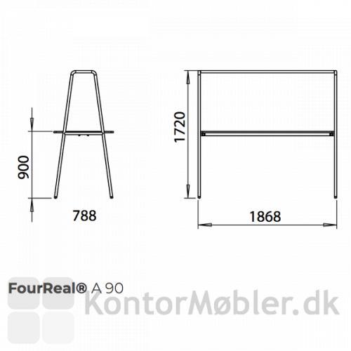 Four Real A med bordhøjde 90 cm - se højde, bredde og dybde