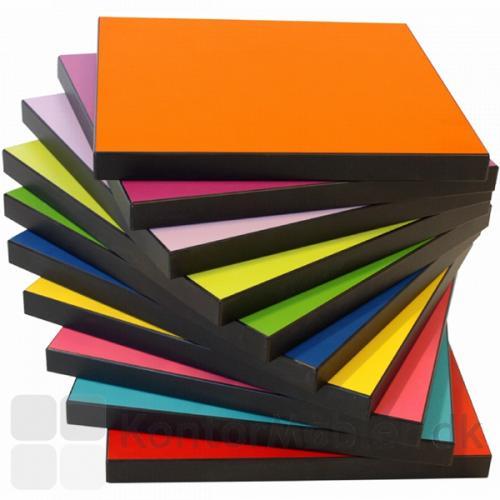 O-bordet kan vælges med bordplade i mange forskellige laminatfarver