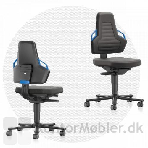 Nexxit industristol har synkron mekanisme, som får stolen til at følge dig og dine bevægelser