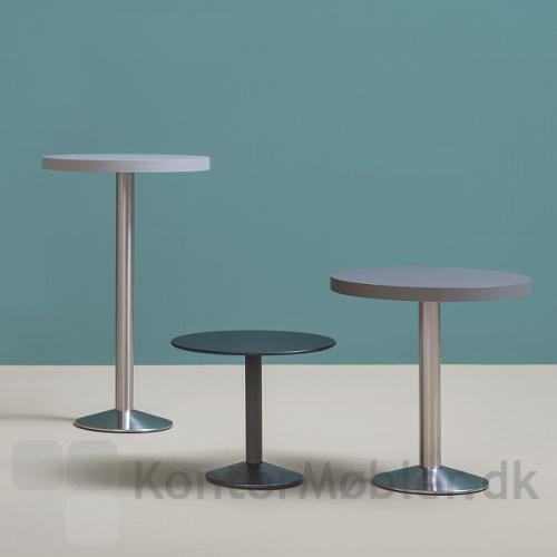 Tonda cafébord fås i forskellige højder