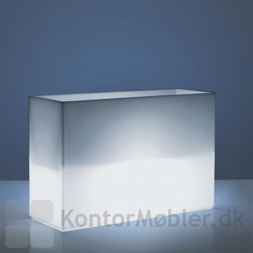 KADO plantekasse i hvid med lys - både til ude og inde