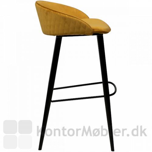 Dan-Form Dual barstol med ryglæn fås i flere farver, herunder den super flotte bronze velour.