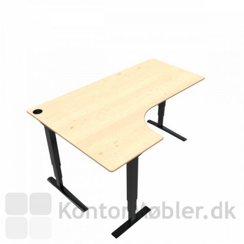 Conset 501-43 hæve sænke bord med venstre vendt bordplade i ahorn finér. Kontakt os for yderligere information
