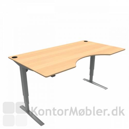 Conset 501-43 hæve sænke bord med centerbue i finér bordplade. Kontakt os for yderligere information