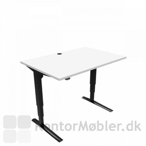 Conset 501-43 hæve sænke bord med melamin bordplade størrelse 140x80 cm