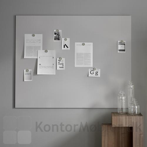 Whiteboard Air i grå, er mere behagelig for øjnene end den hvide whiteboard Air tavle