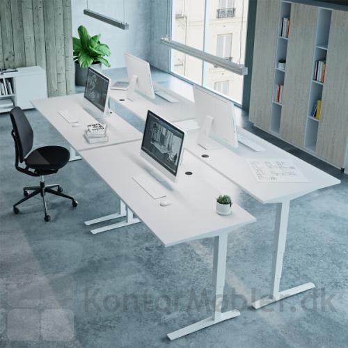 Conset 501-43 hæve sænke bord er elegant og minimalistisk